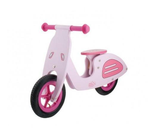 """Bici 12"""" legno bimbo s-pedali Vesparosa"""