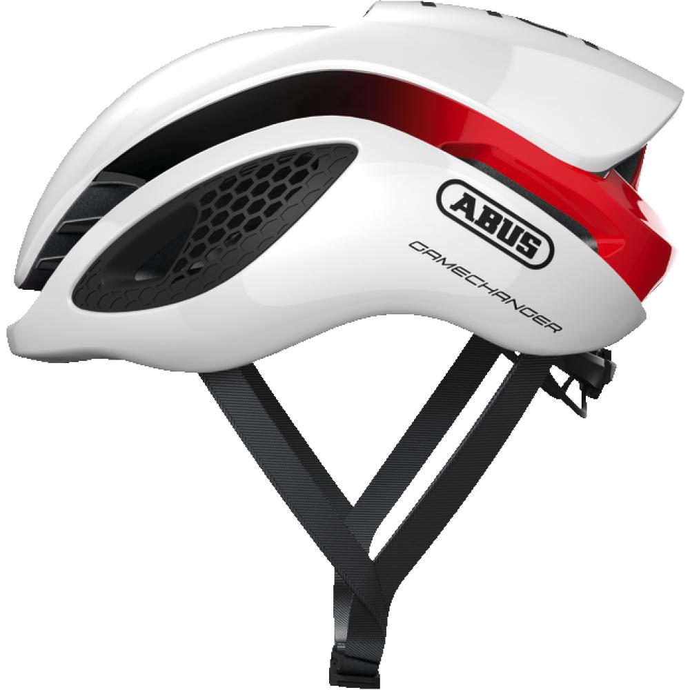 Casco bici Abus Gamechanger White red