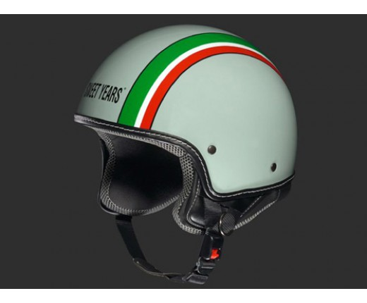 Casco Sweet Years Tricolore Grigi-Verde