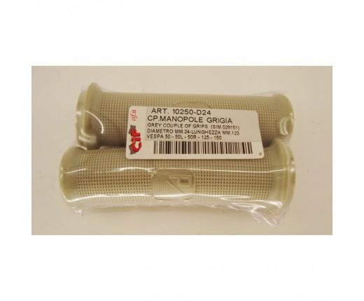Coppia manopole grigie Vespa 50 R- 50 L