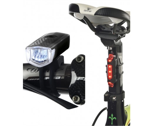 Luci bici ant+post a led ricarica usb