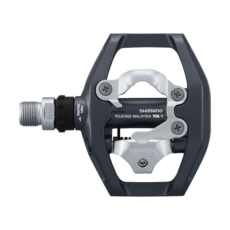 Pedali Shimano EH500 Spd flat + sgancio